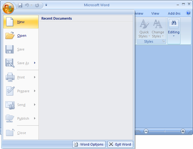 Ms word 2007 create a template from a blank document spiritdancerdesigns